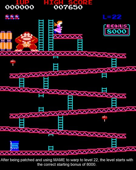 Donkey Kong Kill Screen fixed